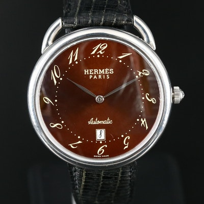 Hermès Arceau Stainless Steel Automatic Wristwatch