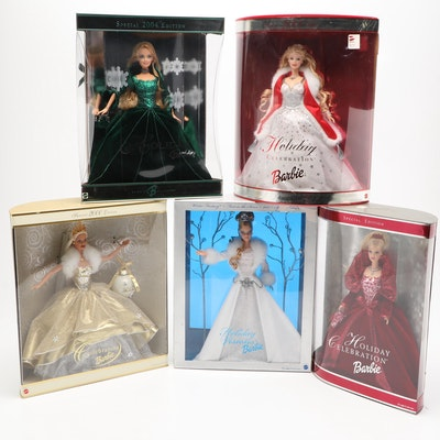 Mattel Holiday Barbies Sealed in Boxes