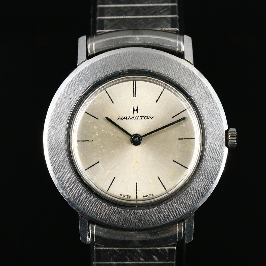 Swiss Made Hamilton Stainless Steel Wristwatch