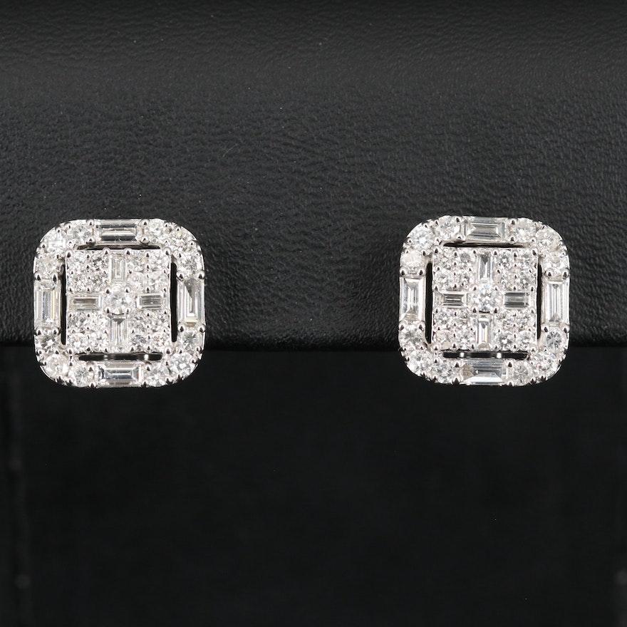 14K 2.20 CTW Diamond Earrings