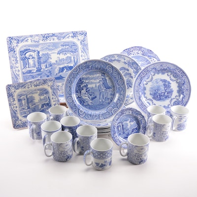 """Spode """"Blue Room"""" and Other Willoware Tableware and Placemats"""