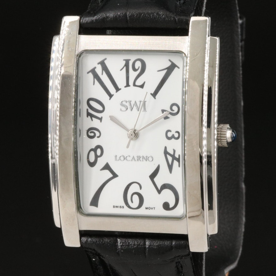 Swiss Watch International Tank Style Wristwatch