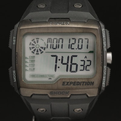 Timex Expedition Grid Shock Stainless Steel and Resin Wristwatch