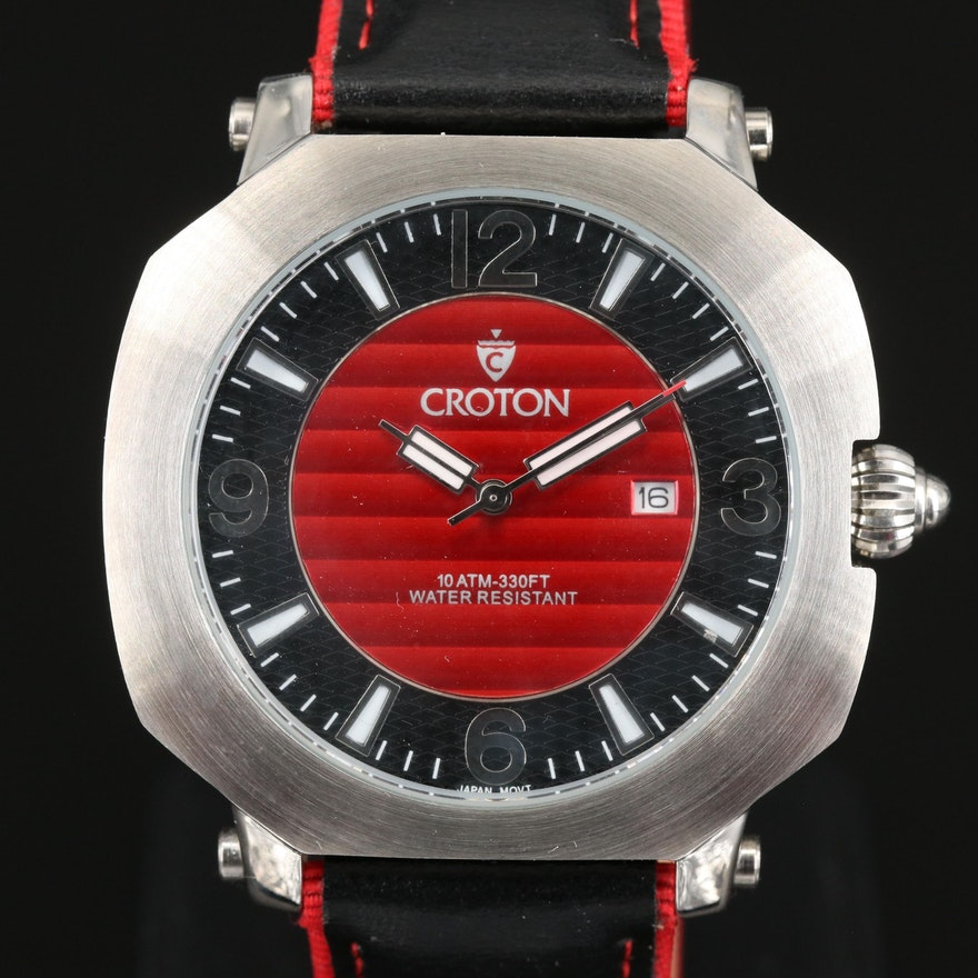 Croton Stainless Steel Quartz Wristwatch