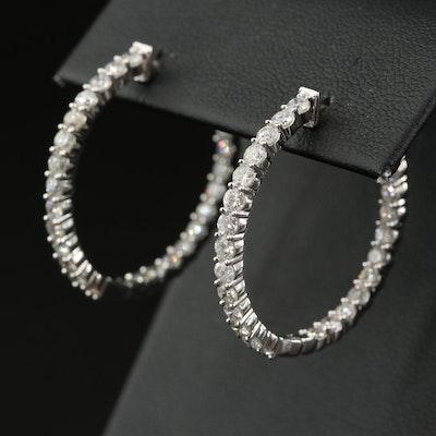 14K 2.08 CTW Diamond Inside-Out Hoop Earrings
