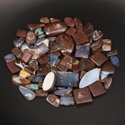 Loose Mixed Shaped Tablet Boulder Opals