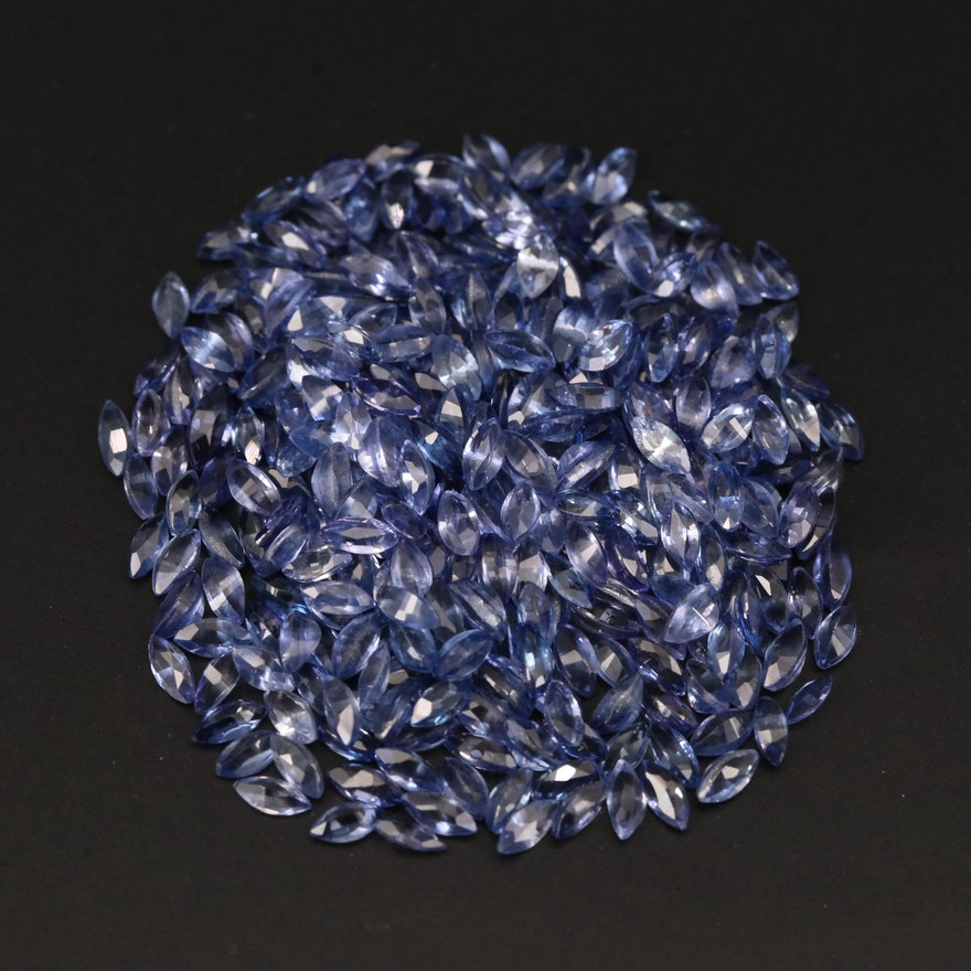 Loose 41.20 CTW Marquise Faceted Sapphires