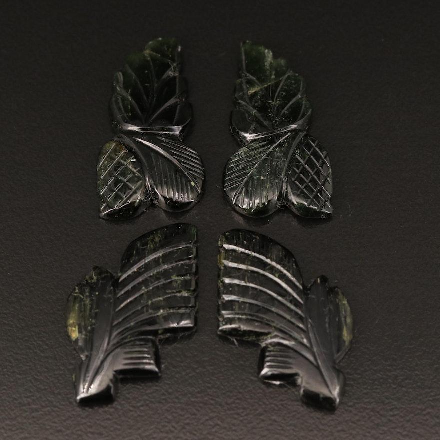Loose 55.57 CTW Carved Tourmaline