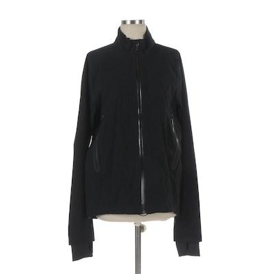 Lululemon Light Weight Windbreaker Jacket in Black Nylon