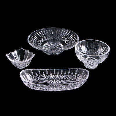 """Waterford """"Lismore"""" and Other Serving Bowl with Marquis by Waterford Lotus Bowl"""