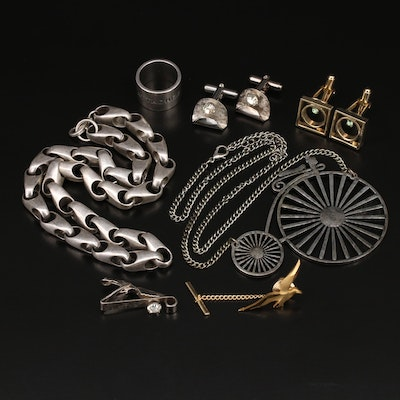 Collection of Jewelry in Decorative Wood Box