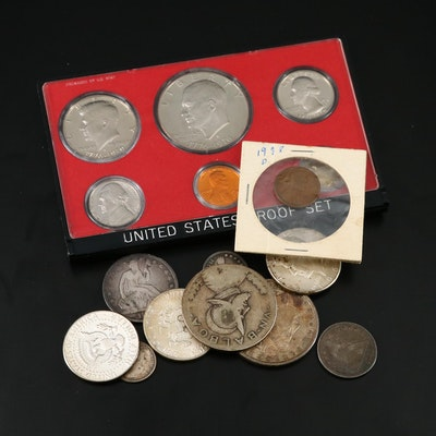 Assortment of U.S. Coins, Including Silver