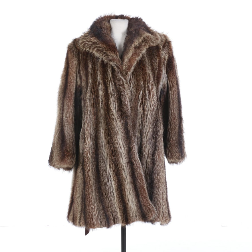 Raccoon Fur Coat from Fur Designs by Pauline Burke