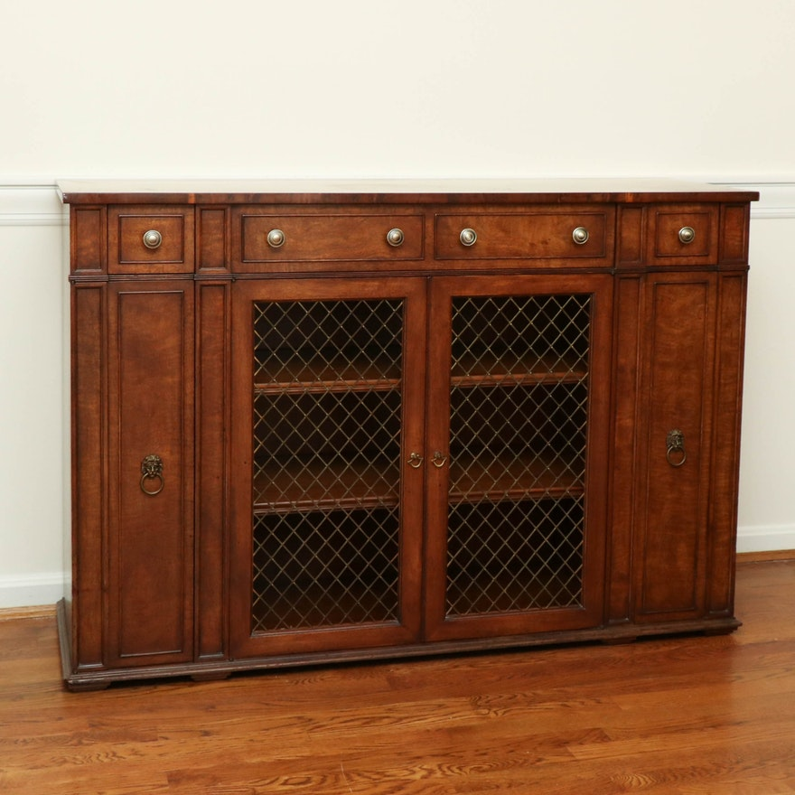 W. A. Bratburd Directoire Style Fruitwood Sideboard, Mid to Late 20th Century