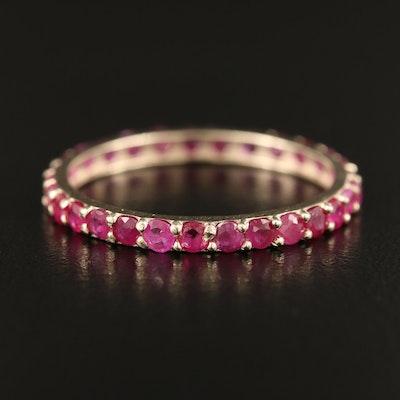 14K Ruby Eternity Ring