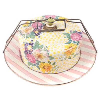 "MacKenzie-Childs ""Buttercup"" Ceramic Cake Carrier, 2000s"
