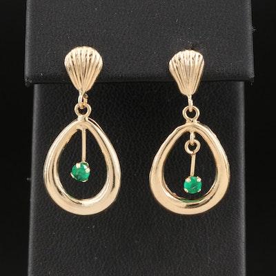 18K Emerald Earrings