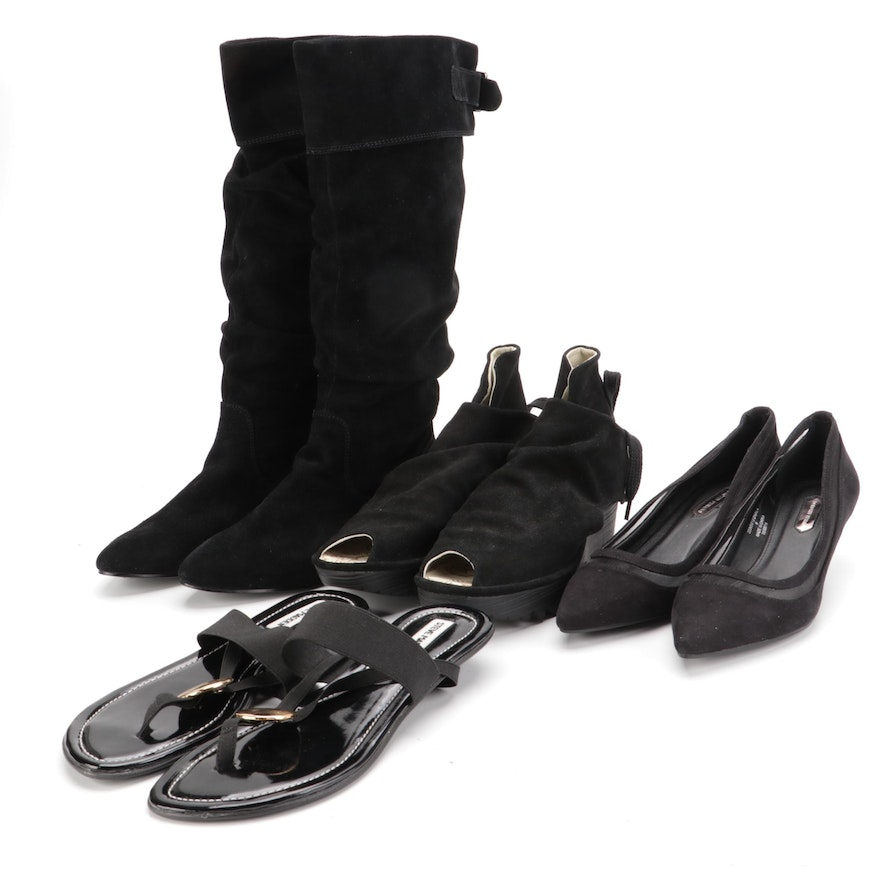 Steve Madden and Fly London Sandals with Other Black Kitten Heels and Boots