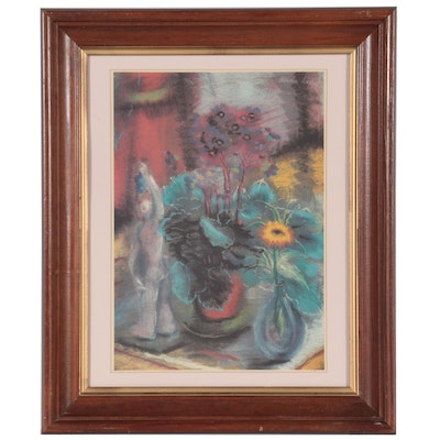 Offset Lithograph of Floral Still Life, Late 20th Century