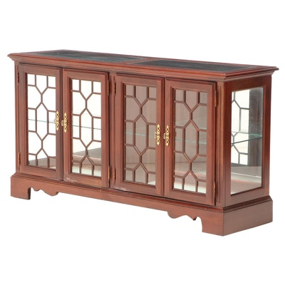 Broyhill Chippendale Style Mahogany Display Cabinet, Late 20th Century