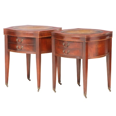 Pair of Federal Style Mahogany Side Tables, Mid-20th Century