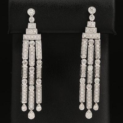 14K 2.43 CTW Diamond Fringe Earrings