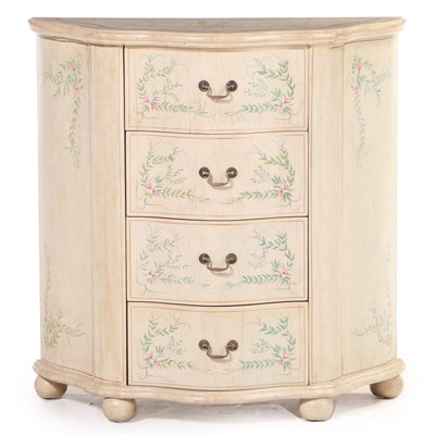 Baroque Style Paint-Decorated Four-Drawer Serpentine Chest