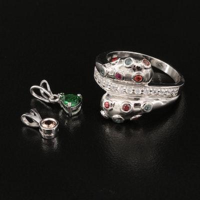 Sterling Silver Jewelry Featuring Garnet, Tsavorite and Tanzanite
