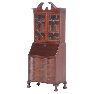 Chippendale Style Mahogany Secretary Desk, circa 1940