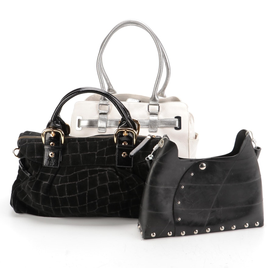 Calvin Klein Convertible Leather Bag with Other Tire Handbag and More