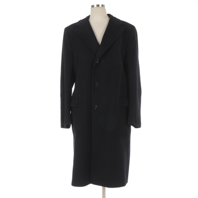 Men's Cashmere Three-Button Overcoat by Madison Clothes for Capper & Capper