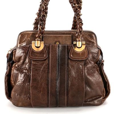 Chloé Heloise Brown Leather Shoulder Bag
