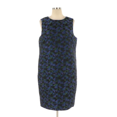 Armani Collezioni Sleeveless Cocktail Dress in Geometric Pattern