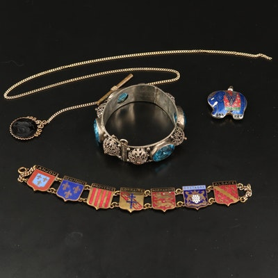 Historical Duchies of France Bracelet Featured with Other Jewelry