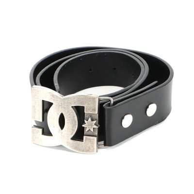 DC Shoes Belt in Black Faux Leather