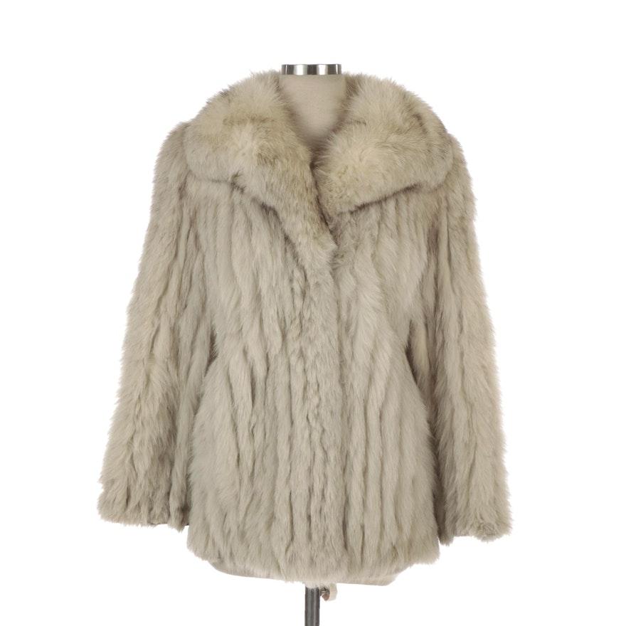 Fox Fur Corded Jacket by Saga Fox