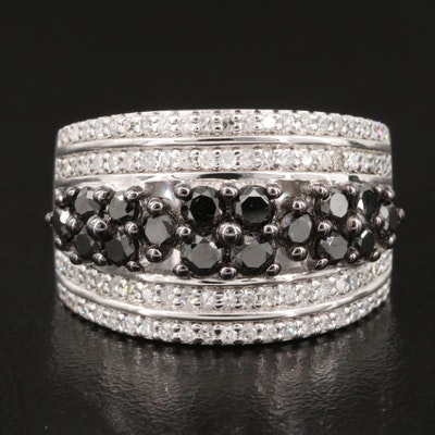 Sterling Silver 1.50 CTW Diamond Tapered Band