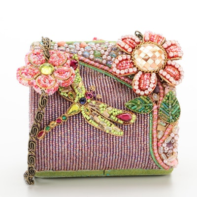 Mary Frances Dragonfly Beaded and Embellished Evening Bag