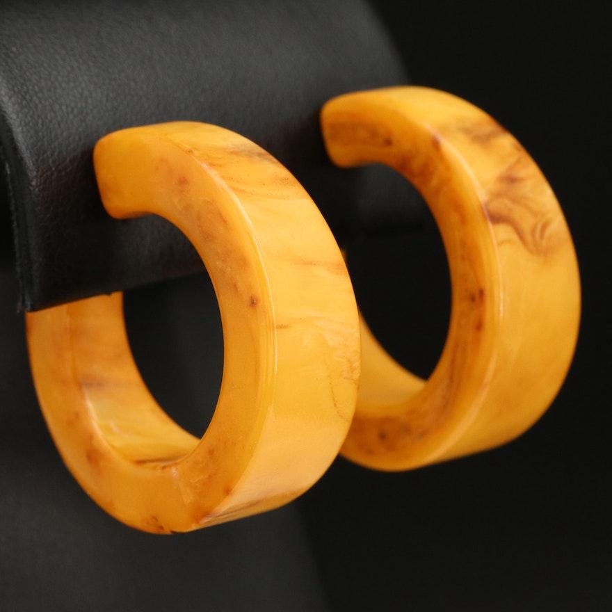 Bakelite Hoop Earrings