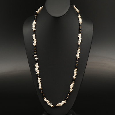 Faux Pearl and Glass Beaded Necklace
