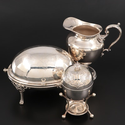 William Padley & Son Breakfast Server with Barker and Wilcox Silver Plate