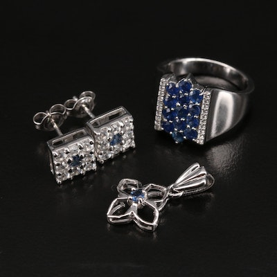 Sterling Sapphire and Zircon Jewelry