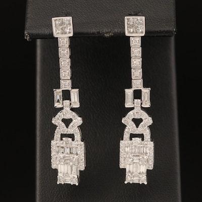 14K 2.48 CTW Diamond Earrings