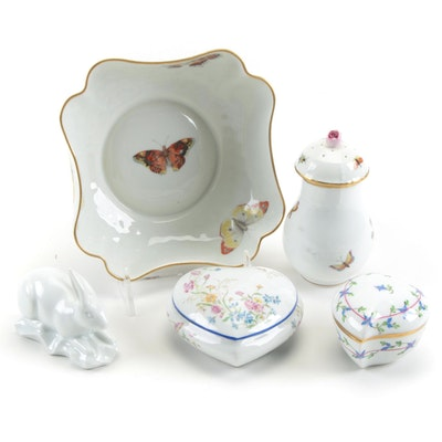 """Herend """"Rothschild Bird"""" Shaker with Other Hand-Painted Limoges Porcelain Décor"""