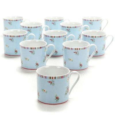 """Laura Ashley """"Kaleidoscope"""" Porcelain Mugs"""