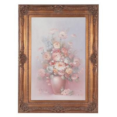 Pegeret Keeling Impasto Floral Still Life Oil Painting