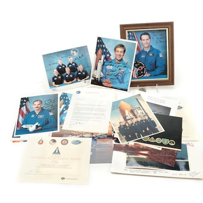 NASA Signed Shuttle Mission Crew & Staff Photographs and Documents, 1990s