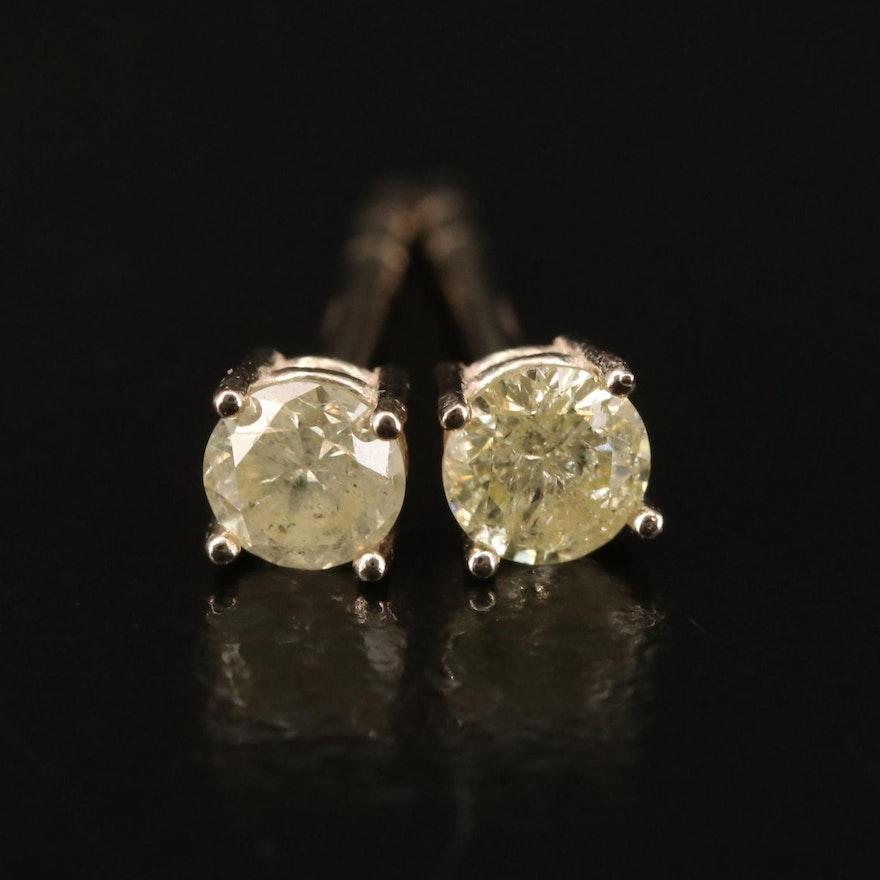 14K 0.24 CTW Diamond Stud Earrings