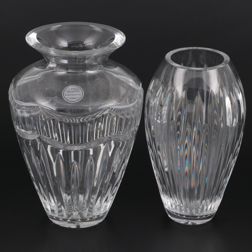 """Waterford """"Carina"""" and """"Pompeii"""" Crystal Vases"""