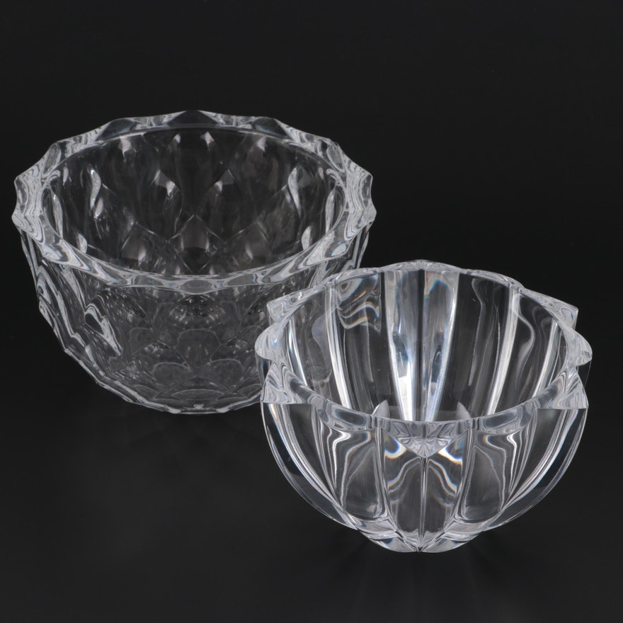 Orrefors and Other Crystal Bowl, Contemporary